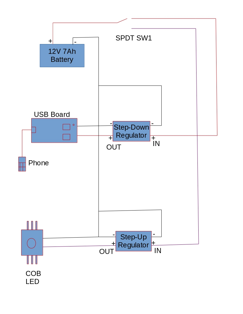 Floodlight Usb Charger Circuit Diagram
